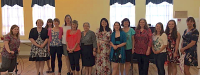 Some of the women of our church, enjoying some fellowship together!